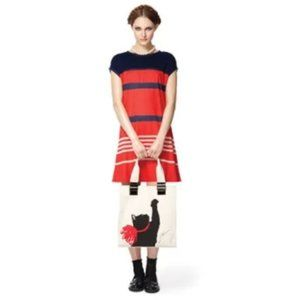 Jason Wu for Target Navy Blue and Red Tee Dress